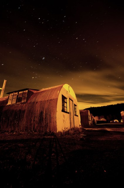 Cultybraggan at night
