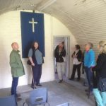 New members take a tour of the Heritage assets at Cultybraggan