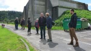 Visitors from Belgium explore the Camp