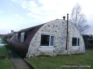 Hut 14 Est elevation showing double glazed windows.