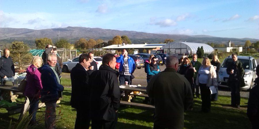 Scottish Rural Network visit Cultybraggan Camp